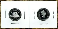 Canada 1996 Proof Gem UNC Silver Five Cent Nickel!!