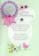 Best Mother Ever Birthday Greeting Card Lovely Verse Embellished Greetings Cards