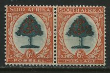 South Africa 1937 6d definitive pair mint o.g.