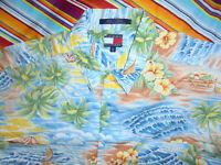 rare vintage TOMMY HILFIGER Hawaii Hemd hawaiihemd Baumwolle shirt surf XXL