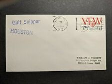 Gulf Oil Corp Tanker Ship SS GULF SHIPPER Naval Cover 1974 Houston, Texas