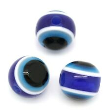 20 Perle Oeil Blue Marine 8mm Oeil Turc Creation bijoux