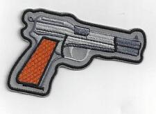 BROWNING  PISTOL  IRON ON PATCH BUY 2 GET 1 FREE = 3 of these.
