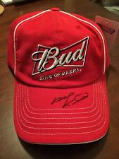 Kasey Kahne SIGNED Bud King of Beers Budweiser team issued hat NEW NWT
