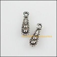 150Pcs Tibetan Silver Tone Tiny Cross Charms Pendants 6.5x11mm