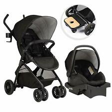 Evenflo 56231975 Sibby Travel System with LiteMax 35 Infant Car Seat, Charcoal