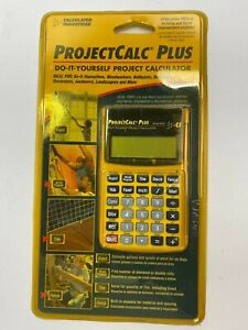 Calculated Industries 8525 ProjectCalc Plus Calculator Yellow New Sealed
