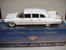 CADILLAC FLEETWOOD  LIMOUSINE WHITE 1959 PRECISION MINIATURES 1/18 NICE CAR GM