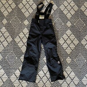 Rossignol Youth Waterproof Insulated Ski Bib Polyamide Snow Pants Sz 8 Black