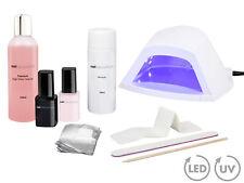 Shellac UV Nagellack STARTER SET mit LED Lichtgerät Base Top Coat High Gloss Gel