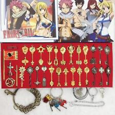 Anime Fairy Tail Lucy Keys Pendant Necklace Keychain Cosplay Gift New In Box