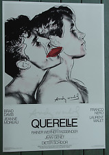 Andy Warhol Querelle 1982•Fassbinder•Movie Poster 28x40 Original Grey/White NM