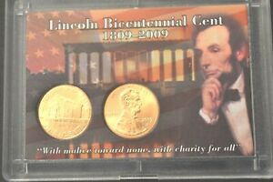 """2009 P & D Lincoln """"Early Childhood"""" Cent Satin Finish Penny In Whitman Holder"""