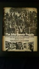 John Denver Rare ABC TV RCA Records Original Promo Poster Ad Framed!