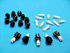 "15 White Mopar LEDs Lights Bulbs 3/8"" Sockets Instrument Panel Cluster Dashboard"