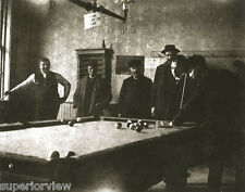 Old Time Pool Hall Vintage Pool Players Antique Pool Table Men Playing Pool 1890