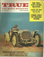 True Magazine August 1959 Vintage Auto Portfolio Babe Pinelli