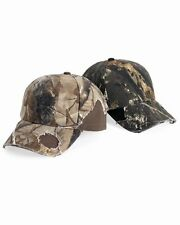 12 New Mossy Oak Frayed Hats EmbroideredFree4r Company Structured, Mid-profile