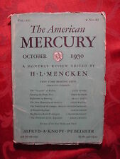 American MERCURY October 1930 SHERWOOD ANDERSON LOUIS ADAMIC