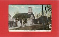 Iron Ridge,Dodge County,WI Wisconsin Town Hall Woodland Doane 1911 cancel