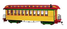 Bachmann On30 Painted Unlettered Yellow & Red Coach/Obser. w/ Lighted int. 26203
