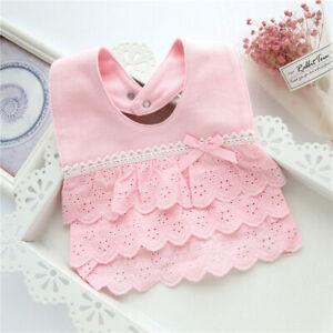 Babero Tela Algodon Encaje Ajustable Baby Girl Bib Cotton Accessories