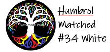 Humbrol Acrylic Matt paint No.34 White Matched Colour Roots Model Acrylic Paint