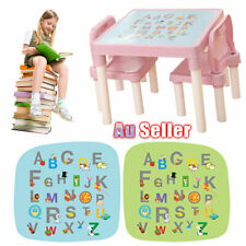 Table and 2 Chairs Set Alphabet Activity Kids ABC Learn Playing Toddler ACB#