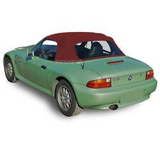 BMW Z3 1996-2002 Convertible Soft Top & Plastic Window Burgundy Stayfast Cloth