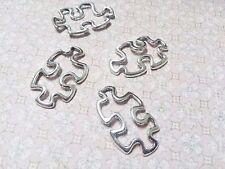 Puzzle Piece Charms Puzzle Pendant Connectors Autism Awareness Charms BULK 50pc