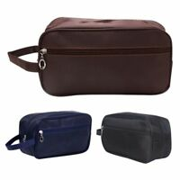 Men Travel Pouch Canvas Handbag Cosmetic Makeup Case Organizer Toiletry Wash Bag