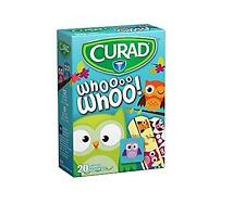 CURAD KIDS WHOOOO OWL Bandages 20 Assorted Sizes (Pack of 2)