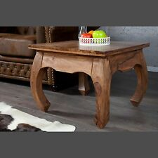 """DESIGN SIDE TABLE """"VIENNA""""   brown, 18.5""""x23.5""""x23.5"""", sheesham wood   end table"""