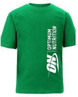 Green Top T-Shirt Gym Wear by Optimum Nutrition Gold Standard Whey Serious Mass