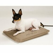 Small Heated Dog Bed Soft Comfy Pad Cat Indoor Outdoor Kennel House Warmer Mat