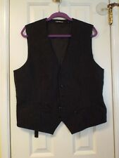 Mens Dark Gray Size Large Vest by Express