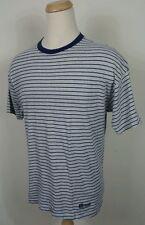 Vtg 90's Hanes Stripe Surf Shirt XXL 2XL Stripe Blank Plain Tee Hipster Skate