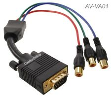 VGA Male to Component 3-RCA Female Cable for HD Projectors w/ VGA Input, AV-VA01