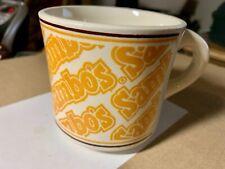 SAMBO'S Ceramic Coffee Cup / Mug, Vintage Orange Lettering  Made USA