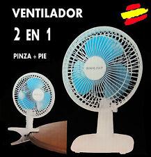 VENTILADOR 2 EN UNO Pie sobremesa + Pinza 2 velocidades Calidad Maxell Power