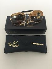 NEW VINTAGE RAY BAN B&L AVIATOR CHROMAX W1663 ARISTA/GOLD Driving SUNGLASSES