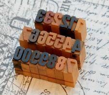 0-9 Holzzahlen 13 mm Ziffern Plakatlettern Holzlettern Zahlen imprimerie Letter