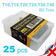 "Star Bits Set (1/4"" Torx Bit) - T10 T15 T20 T25 T30 T40, Steel S2 PRO-TECH 25pcs"