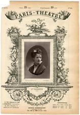 Lemercier et Cie, Paris-Théâtre, Mme Fromentin,actrice Vintage albumen Print T