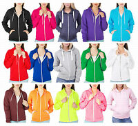 Ladies Girl NEW PLUS SIZE Zip Up Sweatshirt Hooded Hoodie Coat Jacket Top 8-28