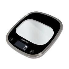 Salter Curve Glass Electronic Digital Kitchen 5kg Scales White 1050BKDR