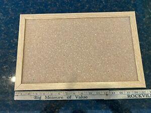 Cork Board Bulletin Board 11 x 17 Inch with Rectangle Frame 11*17inch Natural