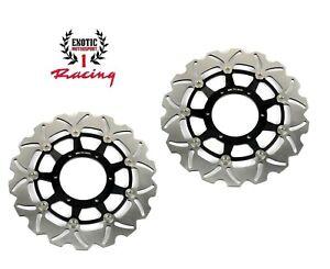 New Front Brake Disc Rotors For Honda CBR600F4i 2001-2007 Wave Rotors black