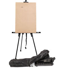 Zinc Airtist Folding Easel Sketching Aluminium Alloy Easel with Carry Bag Black