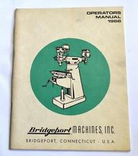 Bridgeport Operators Manual 1966